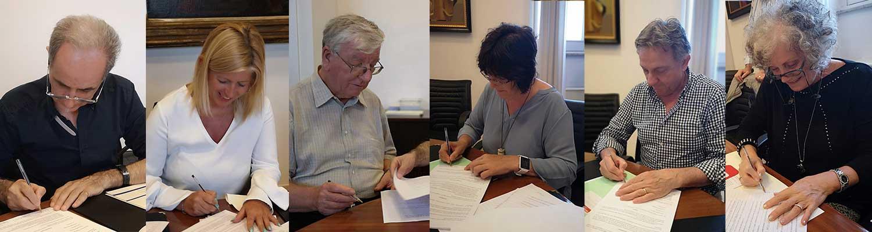 Firma statuto della nuova Associazione Coordinamento delle UPI
