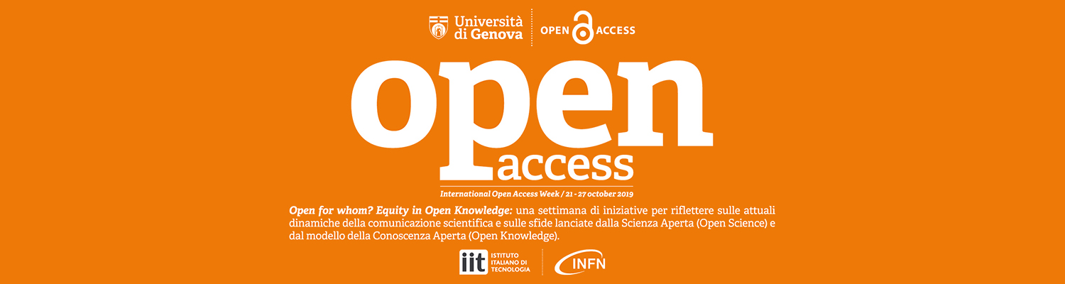 Open for whom? Evento 21 ottobre 2019
